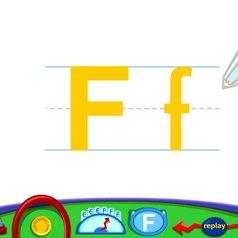 字母f书写